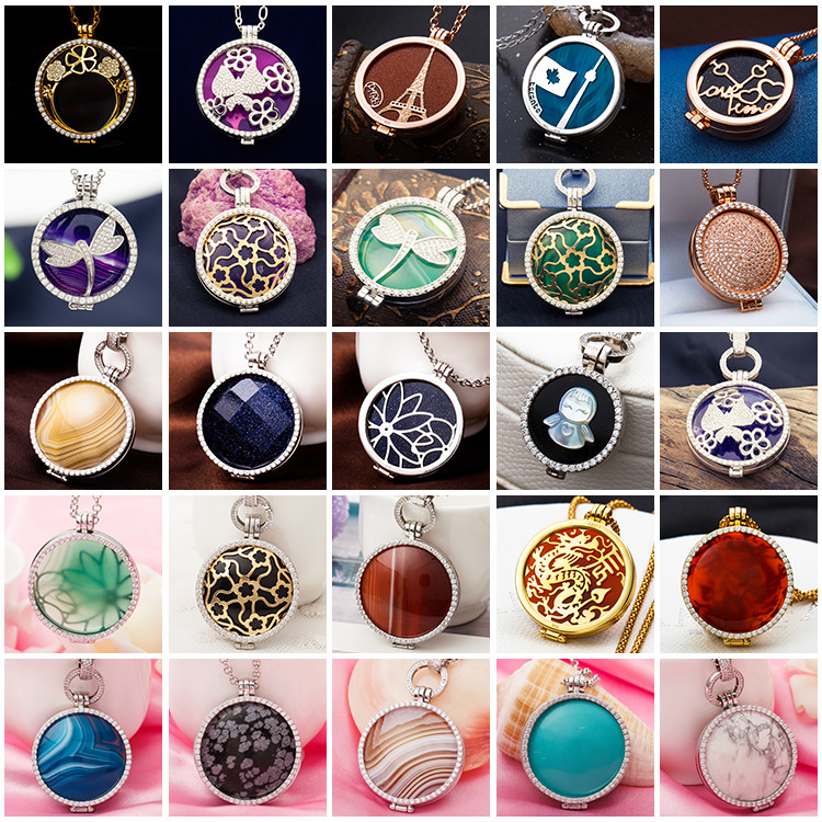 Wholesale Sterling Silver Locket Jewelry floating locket, Open Memory gold locket designs