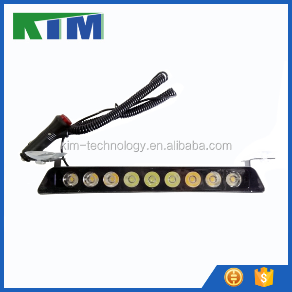 HIgh quality 12V 9 led bulb strobe flashing lights for car