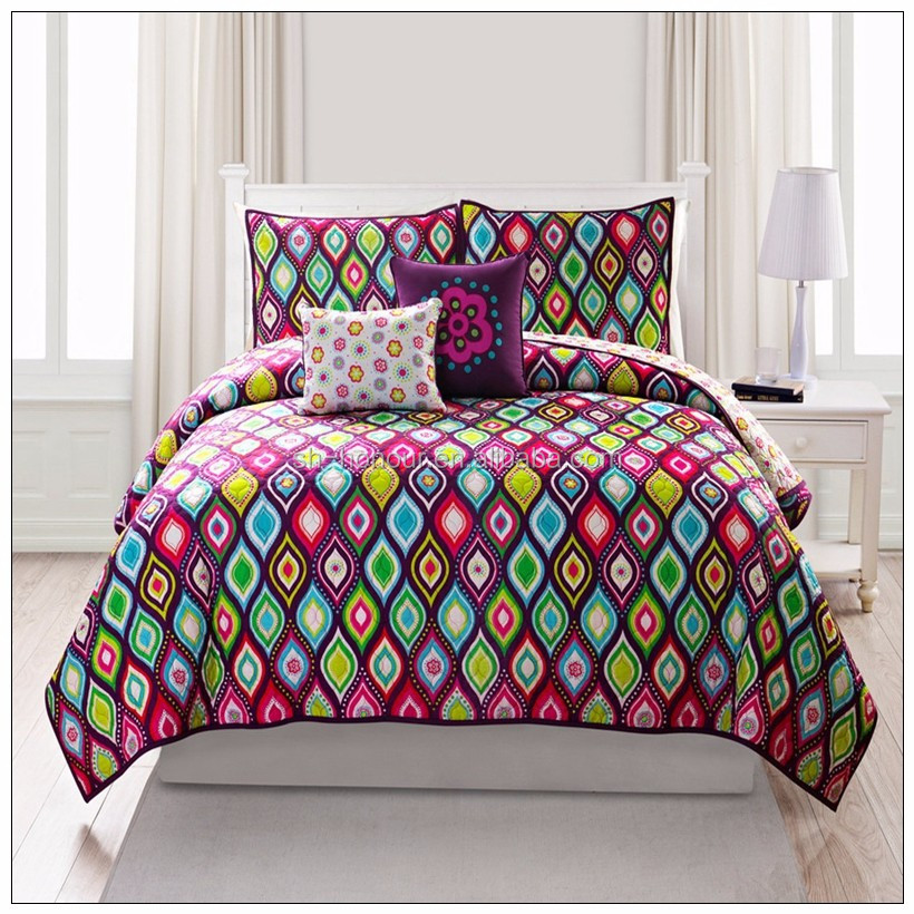 China made wholesale king size print bed cover