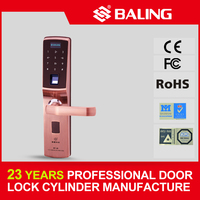 BALING high security password keypad fingerprint door lock
