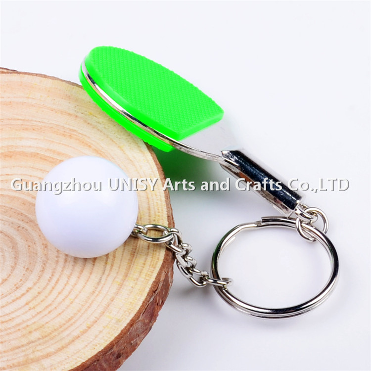 Sports Souvenir cheap sublimation key chain key ring /Mini 3D sports ball key holder wholesale