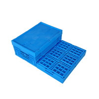 Industrial Strengthen Mesh Style Plastic crate with Lid