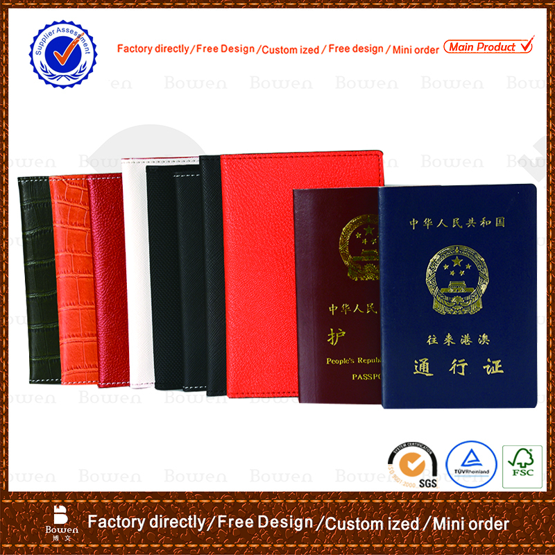 Good quality cover for passport/wholesale passport cover/leather passport case