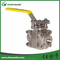 socket welding stainless steel ball valve with 3 piece