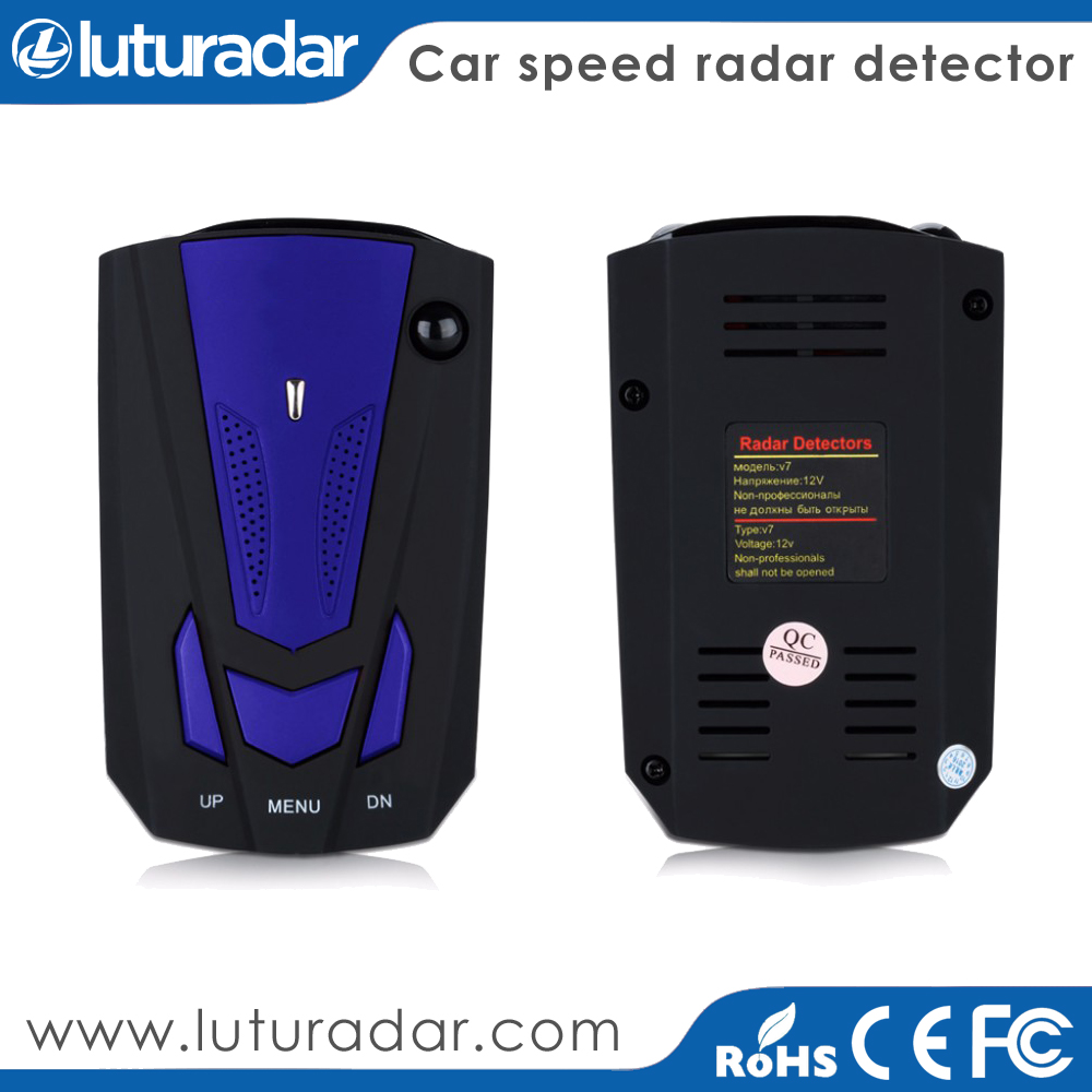 Car Speed Police Radar Detector V7 with K KA band Russian/ English Voice LED Display