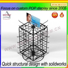 customize rotating counter top display stand with hook
