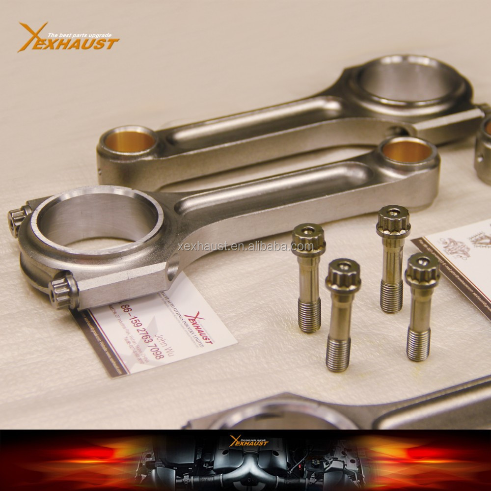 "Race 5.290"" 1.771"" .827"" Bronze Bush Forged 4340 Chromoly Steel I Beam Connecting Rods for Honda B16A"