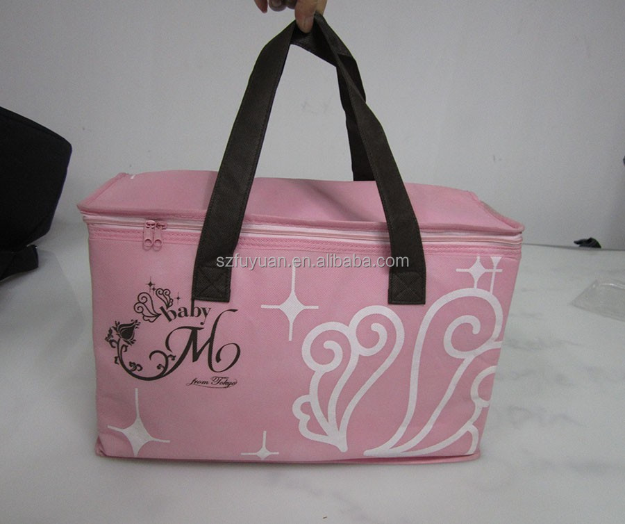 Wholesale pink golf cooler bag insulated bag cool carry insulated beer cooler tote bag