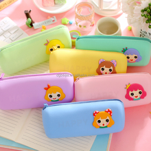 Custom beautiful silicone pencil case for kid