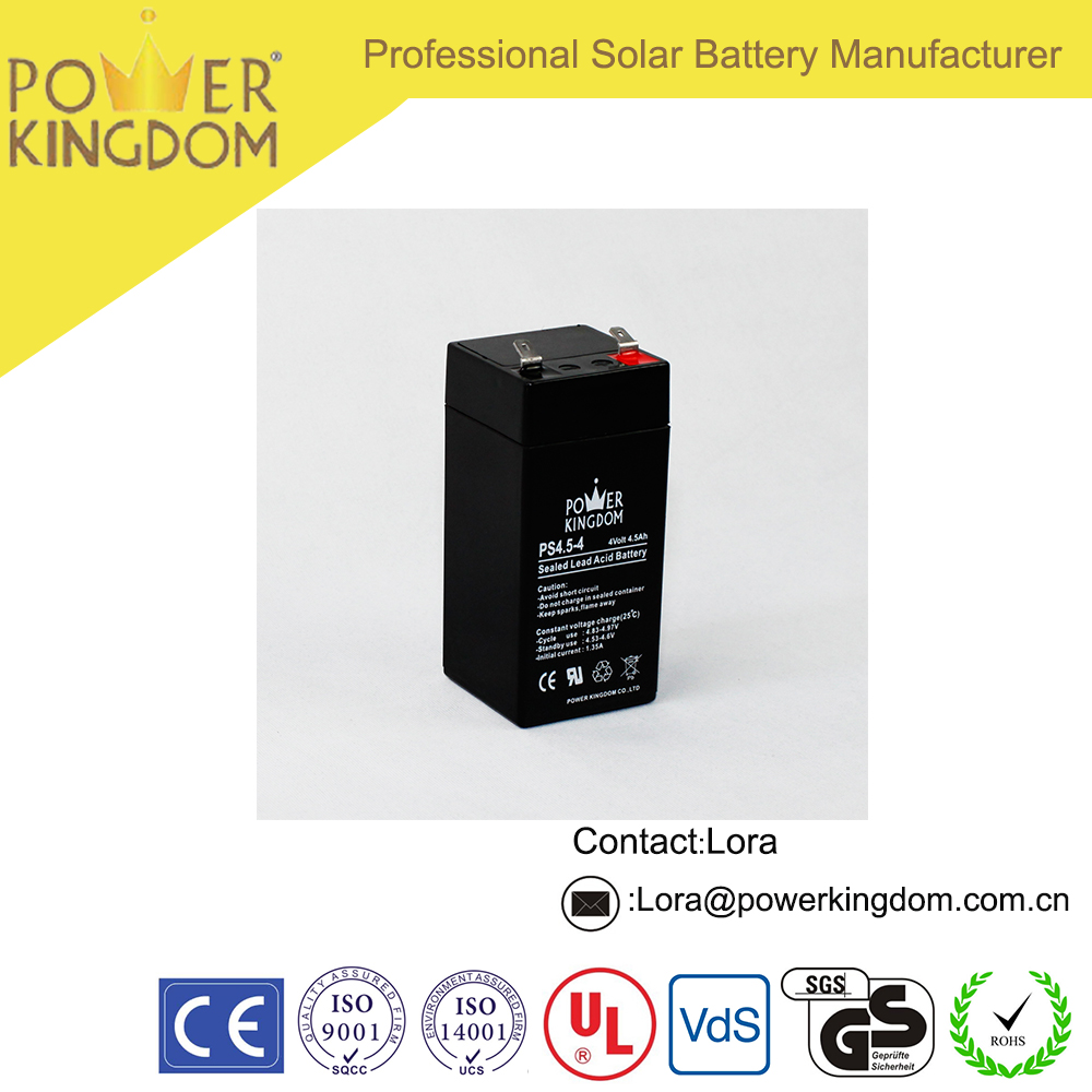 High Quality 4V4.5Ah Sealed Lead Acid Battery For UPS, Alarm Systems