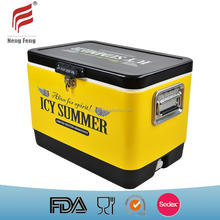 54QT retro metal outdoor cooler box portable ice chest