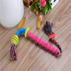 Factory Outlet Cotton Rope Pet Toy Plastic Composition Crutches Toy Pet