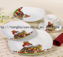 10.5 inches christmas plate with santa design