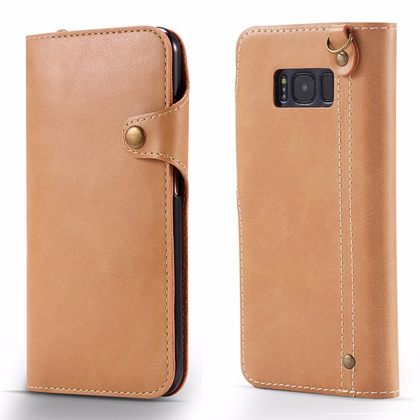 Customized Mobile Phone Leather Cell Phone Wallet Card Slot Stand Case for Samsung Galaxy S8