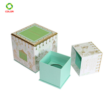 Luxury Paper Drawer Candle Packaging Box With Color Printing