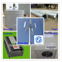 Permanent Magnet 48v AC 1KW Small Vertical Wind Turbines Hydro Generators Prices for Home,Alternative Energy Generator
