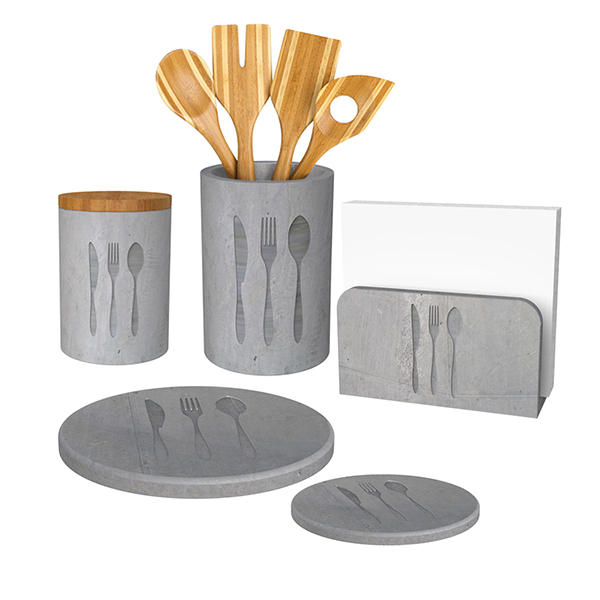 Creative wedding decoration bare concrete restaurant napkin holder