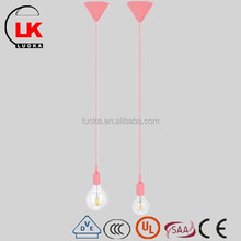 Zhongshan modern chandelier& pink silicone pendant lamp with e27 lamp holder light