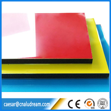 PVDF coated ACM 4mm aluminum composite panel for curtain wall decoration High Glossy