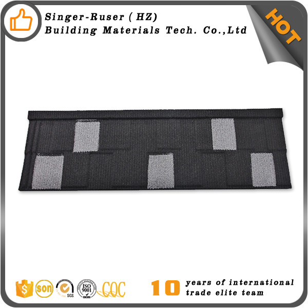Chinese interlocking stone coated roof tile Metal types of roofs for poultry houses