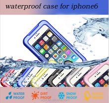 2016 cheap WATERPROOF DIRTY PROOF SNOW PROOF Touch Screen Case Cover For Apple iPhone 6PLUS 6 Muti Colors Mobile Phone Bag