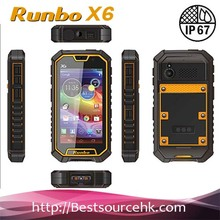 Newest Runbo X6 Walkie Talkie Smartphone Andrid 4.2 Quad Core Dual Sim Card GPS Navigation IP67 Waterproof Mobile Cell Phone
