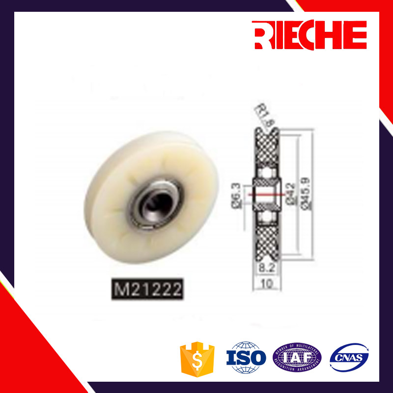 serviceable large plastic sliding door hanging pulley