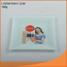 Different designs square shape glass plate with LFGB report