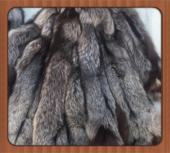 Free Shipping Factory Sale Real Red Fox Fur Plate / Natural Fur / Silver Fox Fur Skin