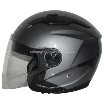 ABS Material Shell,PC Visor,Motorcycle Half face helmet with Double Visor,high quality,Europea Homologation Standard