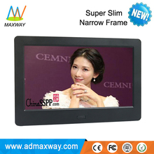 good quality white black 7 inch digital picture frame with video loop