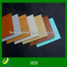 different colors melamine coated mdf board 2-30mm