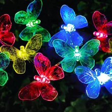 color plastic decoration solar garden fairy lights