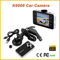 2.7 inch screen car camera dvr k6000 with motion detection 4x zoom car backup camera, dashboard camera 1080