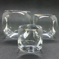 factory made k9 blank crystal glass cube for 3d laser engraving