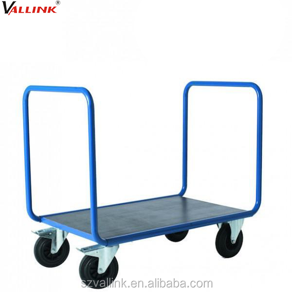 Industrial Twin Handle Pull Panel End Steel Foldable Hand Trolley