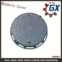 manhole cover ring and manhole cover with handles