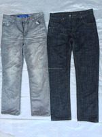 Good quality cheap wholesale Men color jeans used summer clothes