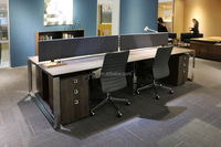 Modular 4 people office table (DIA-series)