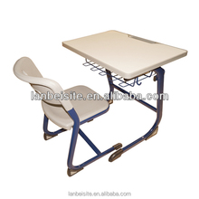 2015 Hot Sale!ergonomic study table,school single desk and chair,second hand school furniture for sale