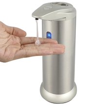 Wholesale 300ml Automatic Touchless Stainless Steel Liquid Hand Sensor Soap Dispenser for Kitchen and Bathroom Soap Dispenser