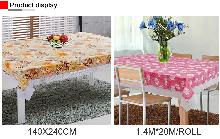 Factory Manufacture Fancy Restaurant Lace Table Cloth