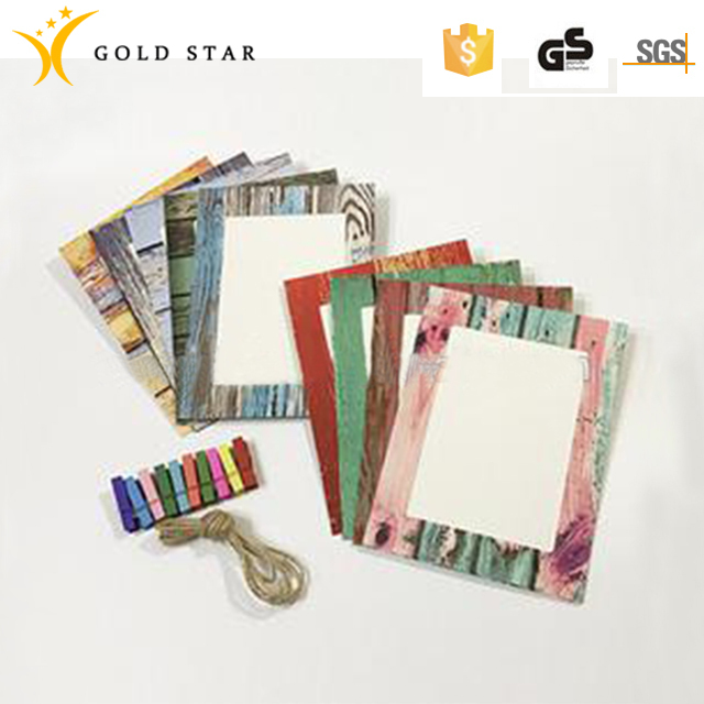 Fashionable Printing 9g Wooden Paper Photo Fram For Home