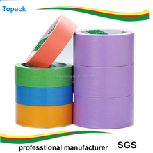 Multi Colored Adhesive Masking Tape Crepe Texture Paper Tape