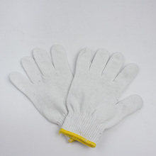 2014 hot selling White Cotton Gloves Military Parade Gloves cotton knitted safety glove for workers 6116920000
