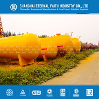 Nothing Inside Empty 100m3 Tank LPG Gas Storage Tank Container Price For Sale