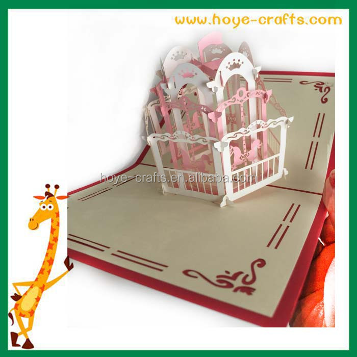 3D pop up greeting card for kids
