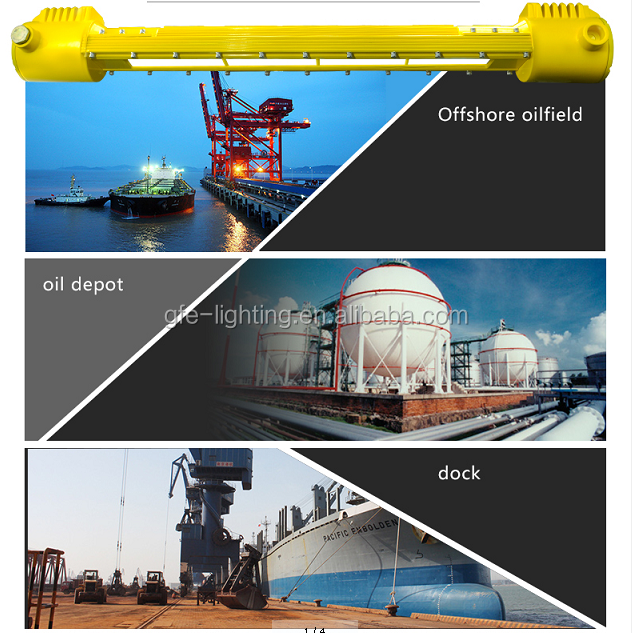 40 Watt Ip66 Offshore Oil Rig Atex Approved Explosion