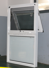 Australia aluminium chain winder top hung&awning window with blinds inside
