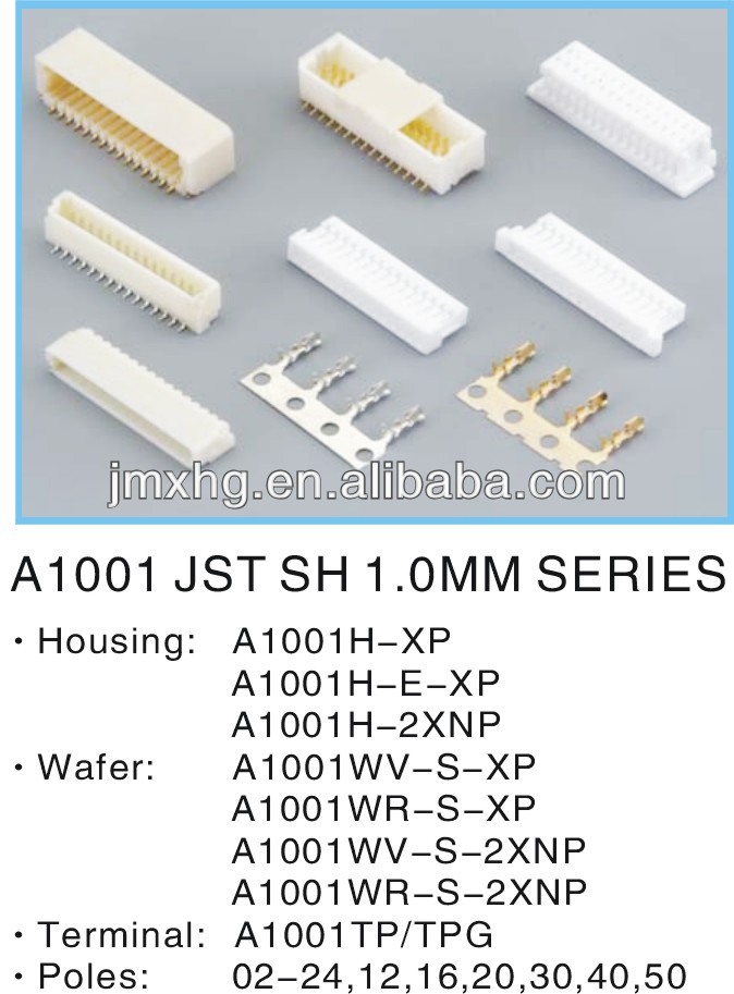 JST 1.0MM SH Wire To Board Connector/Housing/Wafer/Terminal,1mm pitch connector